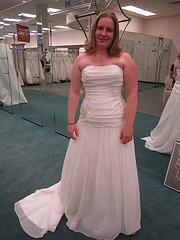 And I found my dress...
