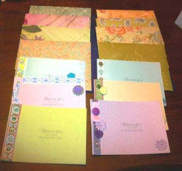 My handmade invitations: each one is different!