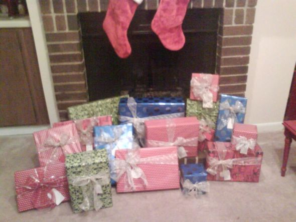 Finished wrapping Christmas gifts!
