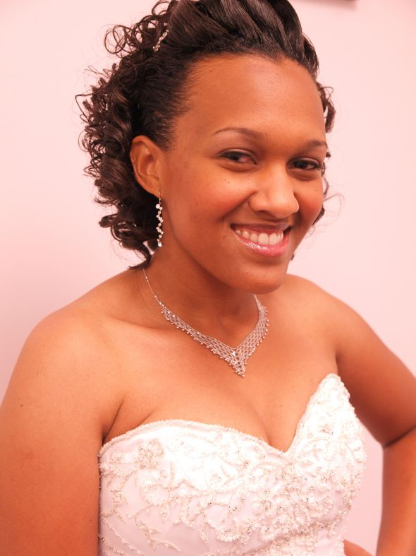 This was my wedding hair. My hair was about shoulder length and I didn ...