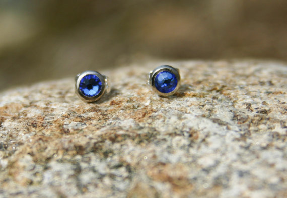 Something Blue or Stud Earrings for