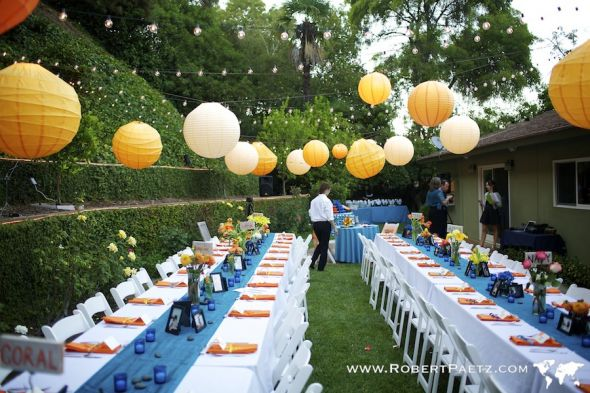 Garden Wedding Decor wedding candles flatware vases drapes sashes sand