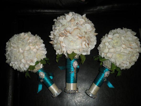 Diy Bridal Bouquet Tips : My diy seashell bouquet weddingbee photo gallery