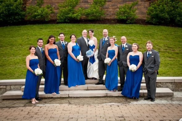 Royal Blue And Gray Wedding Decorations: Wedding party arch ...