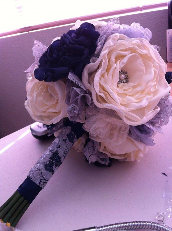 My DIY so far! Winter vintage inspired wedding.. Navy blue, silver ...