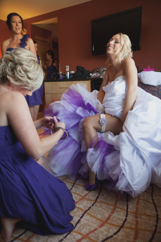 Sewn in purple crinoline