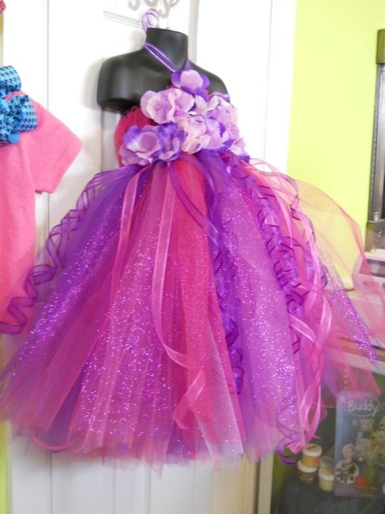 Emily's Gorgeous Tulle Dress :  wedding pink purple IMG 0738