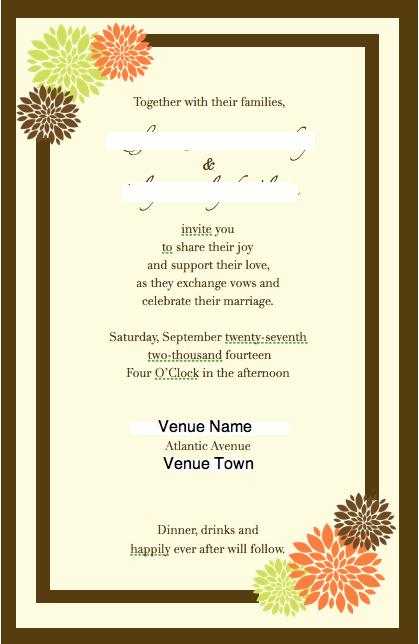 Wedding Invitation Wording Cordially ~ Yaseen for