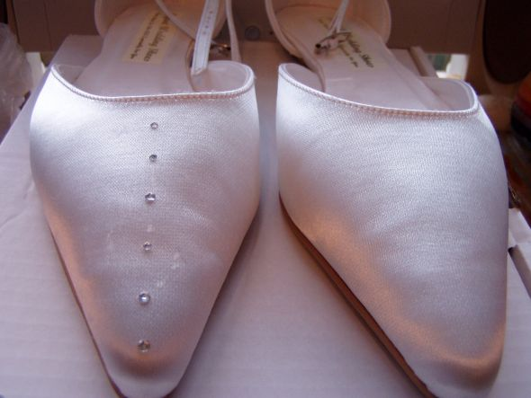 Shoes wedding crystal wedding shoe diy pearl Pratice DIY Crystal Shoe
