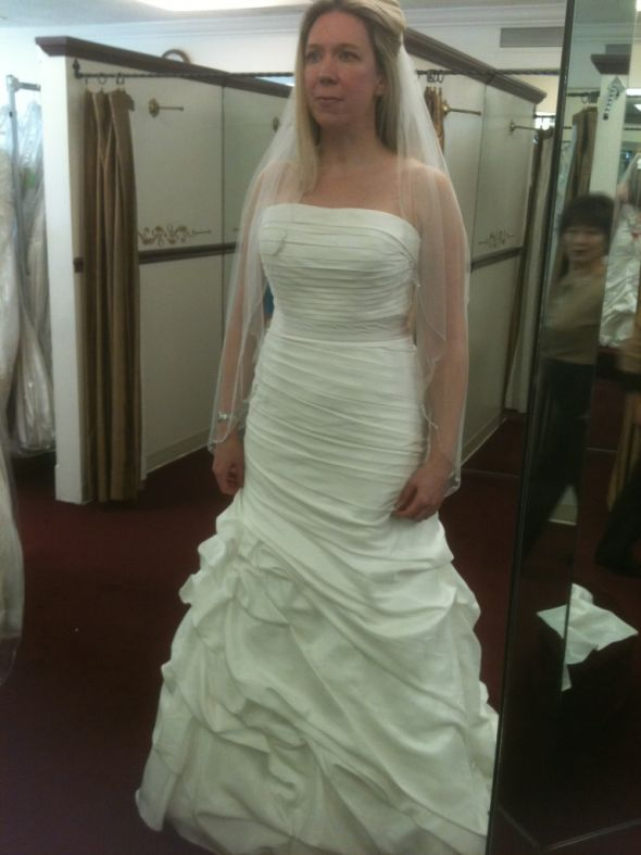 Almost 40!! Look to old for the dress??? :  wedding dress ivory modified a line off white 1 strapless white IMG 2038