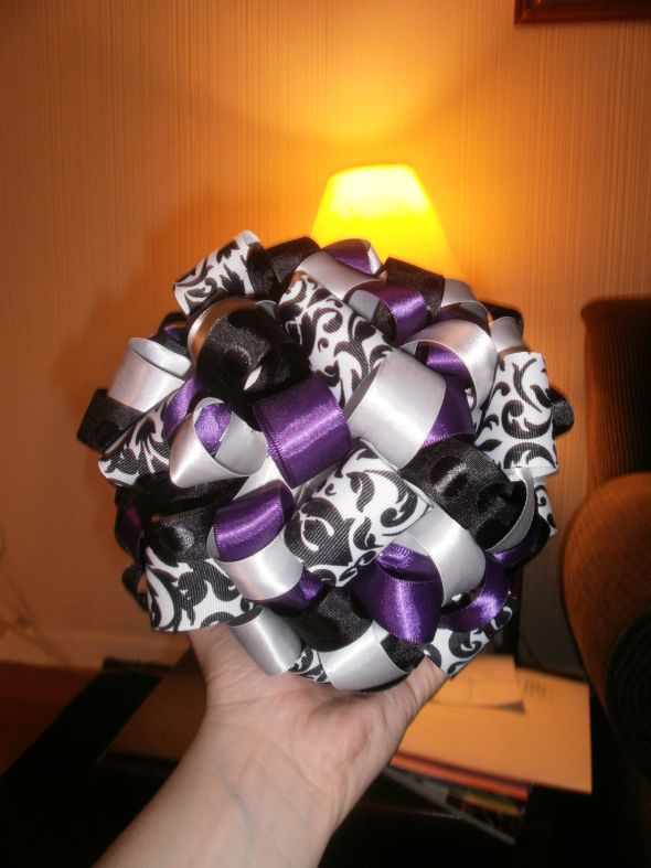 Wedding Reception Details Photos wedding purple black damask silver