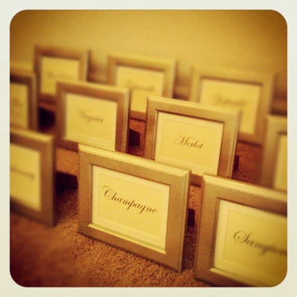 My DIY Wine Table Names