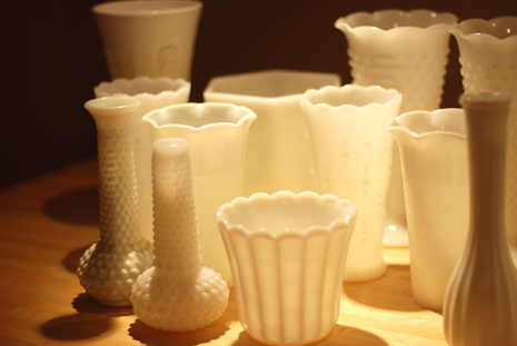 Glass - Antique - Milk Glass - Atlanta Antique Gallery
