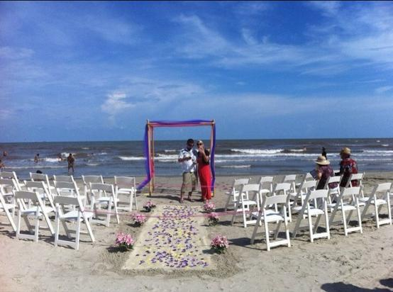Galveston Island Beach Wedding - pin