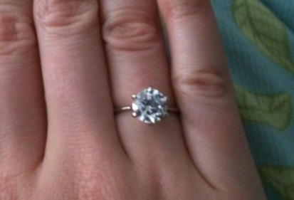 real that engagement cut brilliant fake diamond ring set rings look