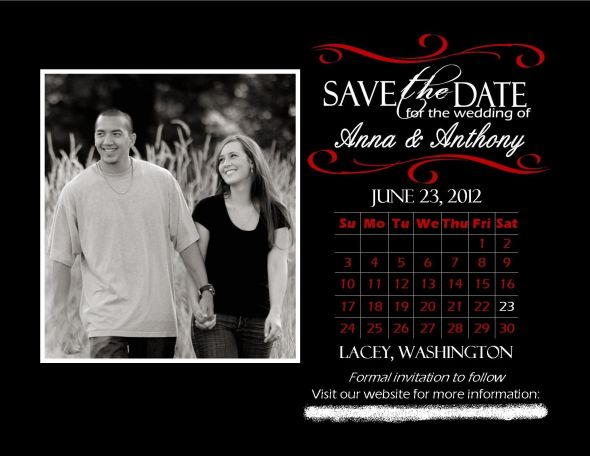 Our Save the Date Magnets