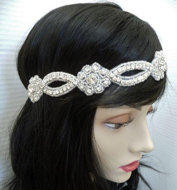Etsycom Vintage Inspired Rhinestone Bridal Headpiece wedding bridal