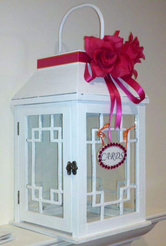 My Card box/ Bought the lantern at Marshalls