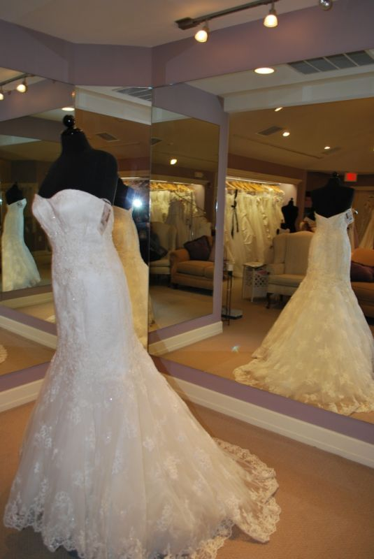 I closed my bridal boutique and have some fitnflare lace gowsn in white