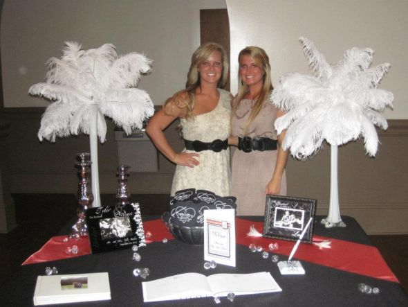 White ostrich feather centerpieces wedding ostrich feathers centerpieces