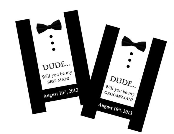Will You Be My Best Man/Groomsman Cards