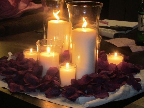 Candle Centerpiece Weddingbee Photo Gallery