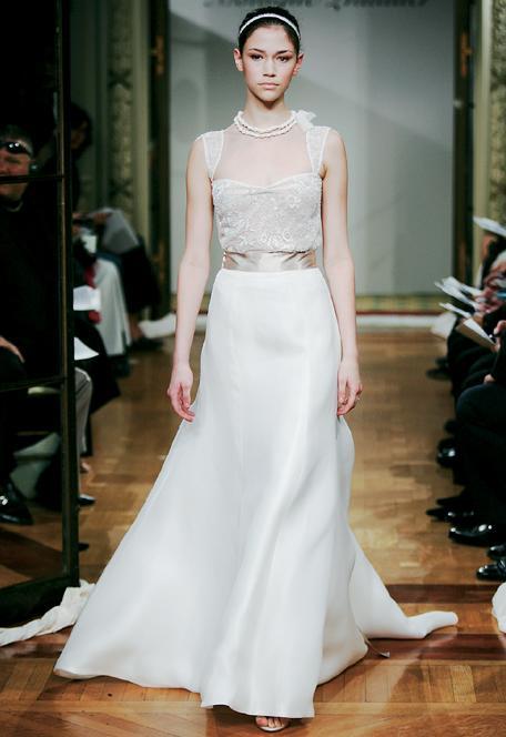 Monique Lhuillier Dahlia blouse wedding monique lhuillier blouse Fashion