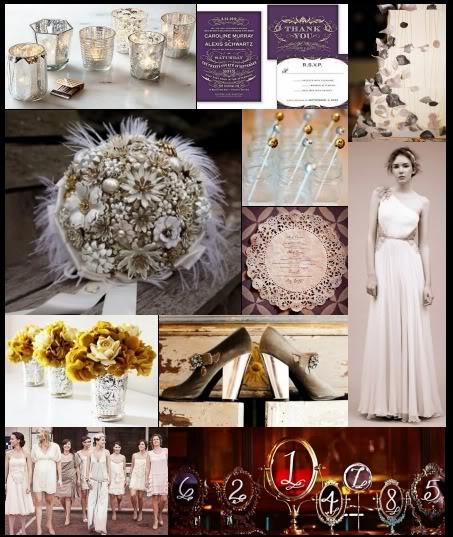 Blush Champagne Bling wedding Crystal Eggplant Champagne Blush