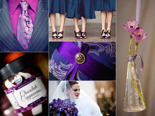 wedding reception colors Royal Purple Blue Wedding Color Board