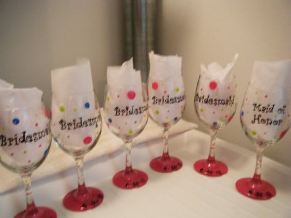 Bridesmaids wine glasses weddingbee photo gallery for Do it yourself wine glasses