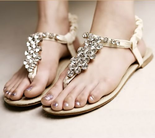 Help i need to find these bridesmaid shoes or similar flat sandals junglespirit Images