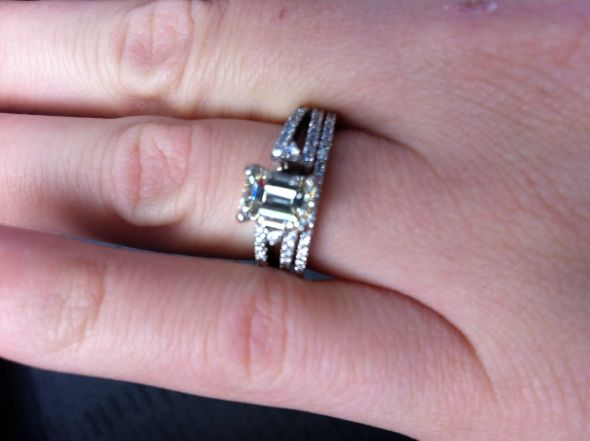 My emerald cut engagement ring :)