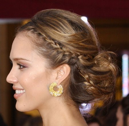 Bridal Hairstyles With Braids for Long Hiar with Veil Half Up 2013 For