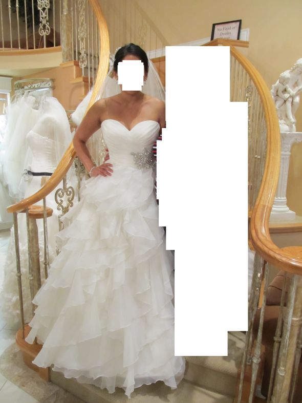 possible wedding dress..what does everyone think :  wedding black white Bride 6