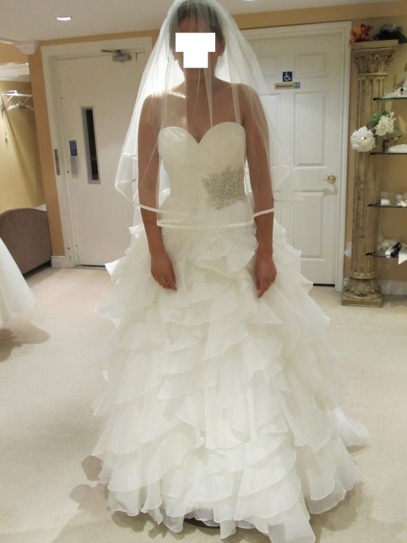possible wedding dress..what does everyone think :  wedding black white Bride 4