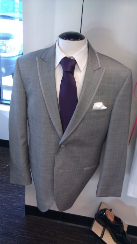 tux for wedding with purple