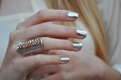 Metallic Silver Nail Polish- Yay or Nay? :  wedding Hand Metallic Nail Polish Ring Silver Favim Com 268010