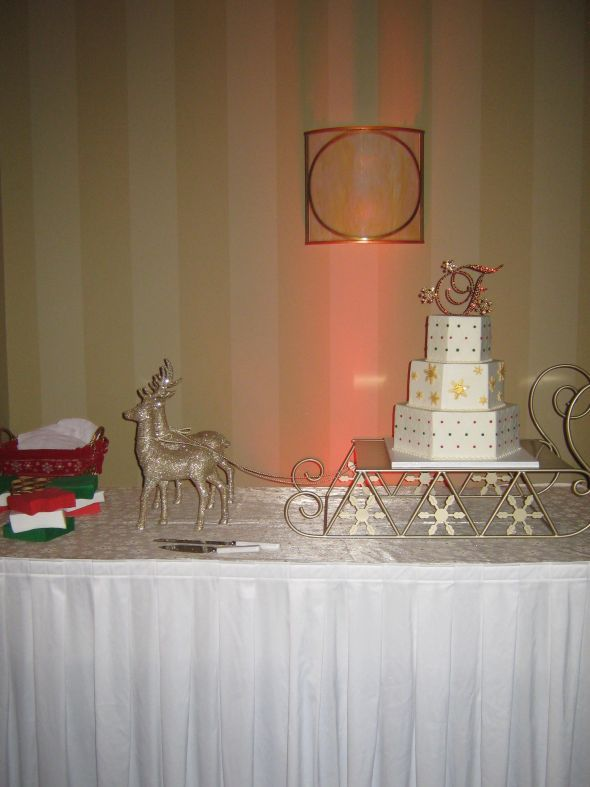 Sleigh cake stand....Imagine my cake