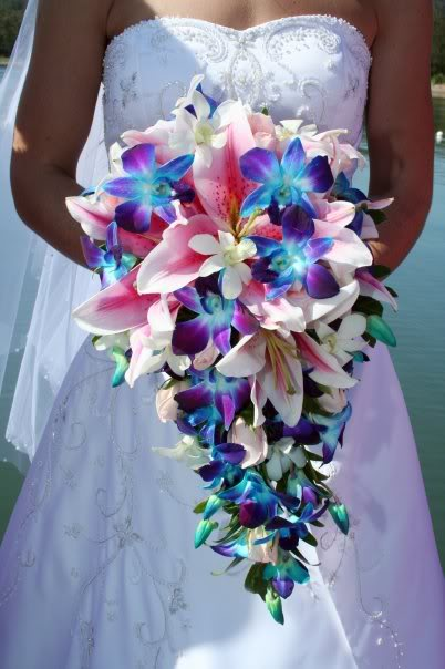 peacock blue wedding