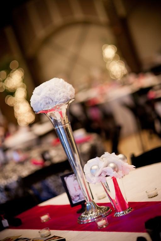 Tissue Flowers for centerpieces