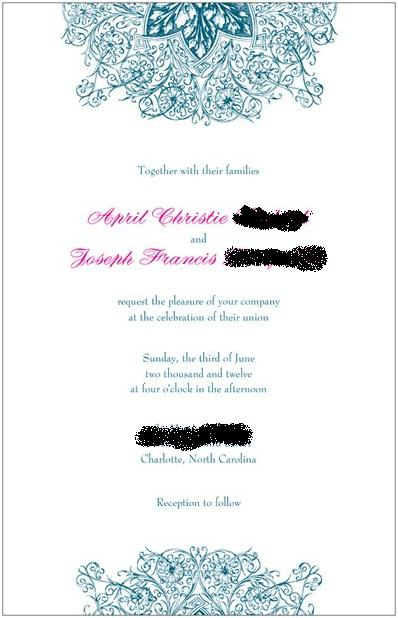 Help with wording please wedding Invitation 5 months ago