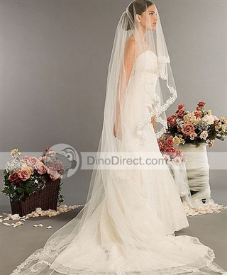 Buyers Remorse Bees Please Help!!!! :  wedding dress veil Bridal Wedding Veils Chapel Length Yarn 2801243 Yfbig