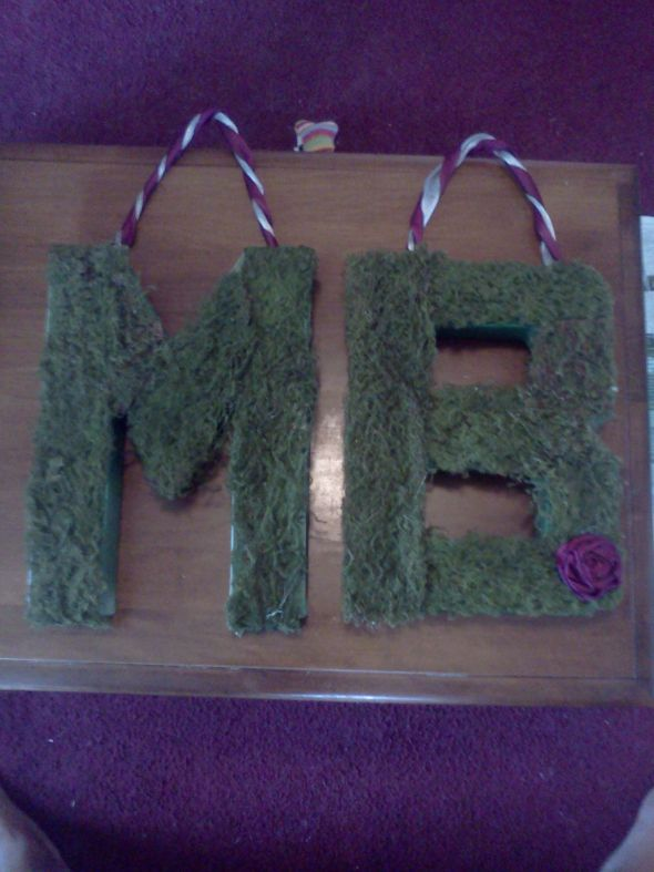 My moss covered initials