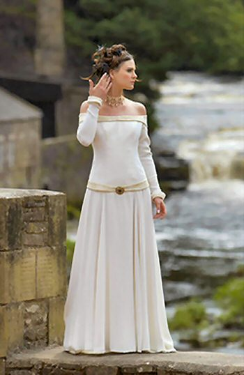 pagan wedding dress