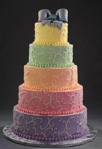 Rainbow wedding theme Inspiration needed please, Kept Elegant Elegant Rainbow Wedding Cake