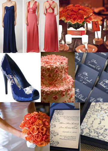 Any other Navy and Coral Weddings out there wedding navy coral roses june