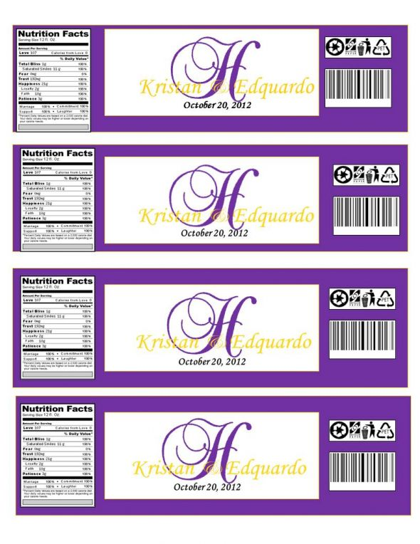 Monogramed Water Bottle Labels… Opinions please | Weddingbee Photo ...