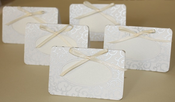 Free Couture Handmade Paper Place Cards wedding place cards handmade paper