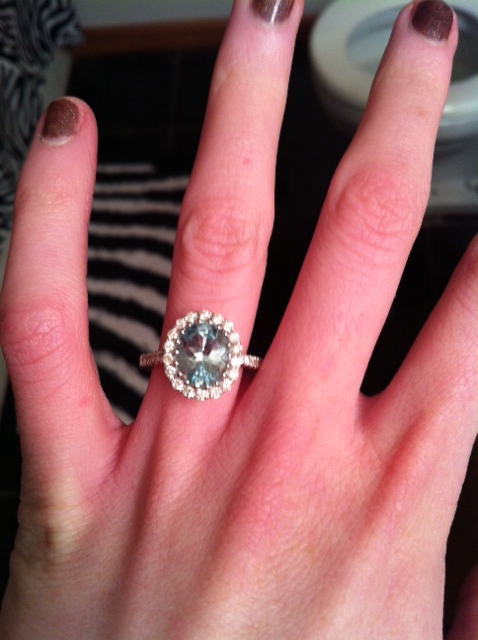 My NonTraditional Engagement Ring No band