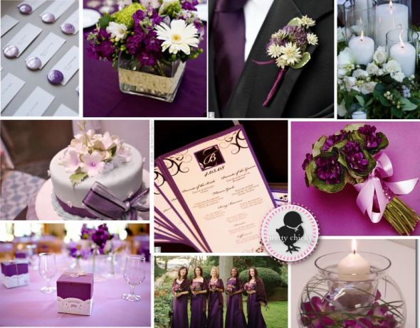 wedding engagement ring African Violet Purple Wedding Board